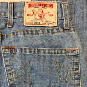 Men's True Religion MICKY Jeans 32 X 33 EXCELLENT